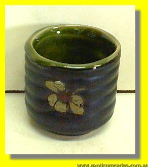 Japanese Style Green Floral Sake Cup