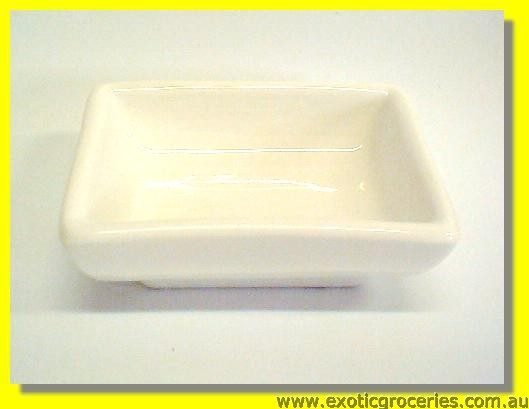 White Rectangular Sauce Dish 7.5cm M367