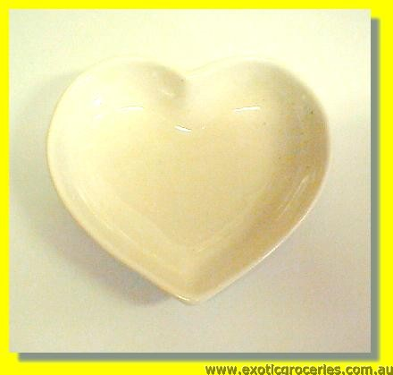White Heart Shape Saucer M1124