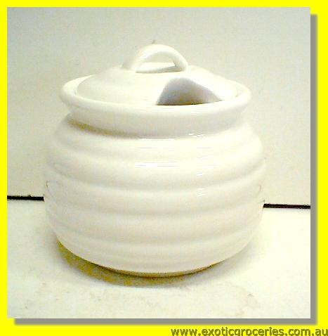 White Beehive Sugar Pot 8cm M862