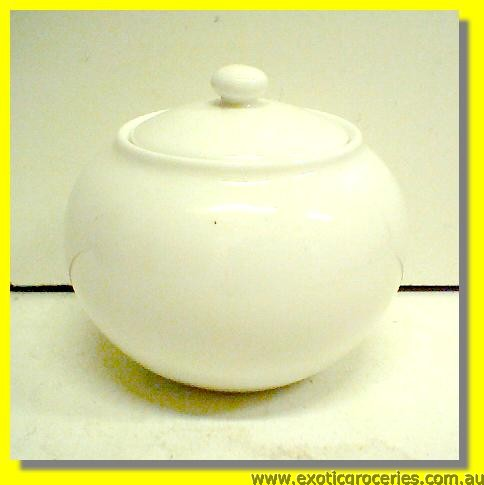White Sugar Pot with Lid M799