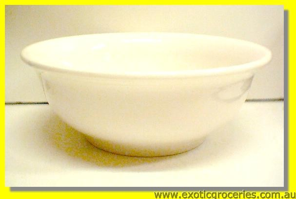 "White Thick Rim Bowl 9"" M206"