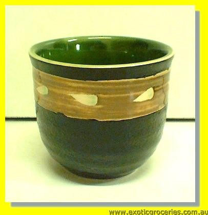 Black & Green Teacup W8960