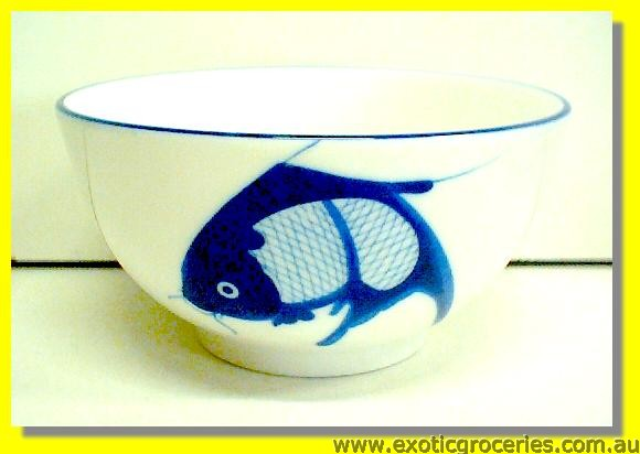 "A Grade Blue Fish Bowl 8"" (C165-027)"