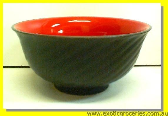 Red Black Bowl 17cm