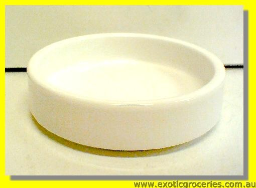 White Round Dish 10cm (White Cr�me Brulle Dish) m115