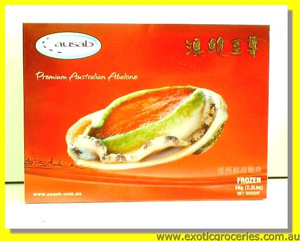 Frozen Green Lip Abalone with Shell 14-16pcs