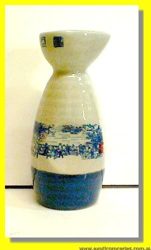 Qing Ming Blue Sake Bottle