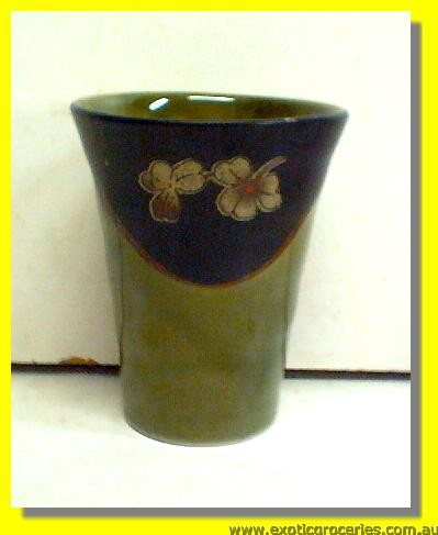 Ceramic Green Floral Cup
