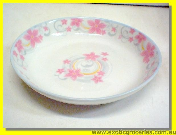 Pink Floral Dish 20cm