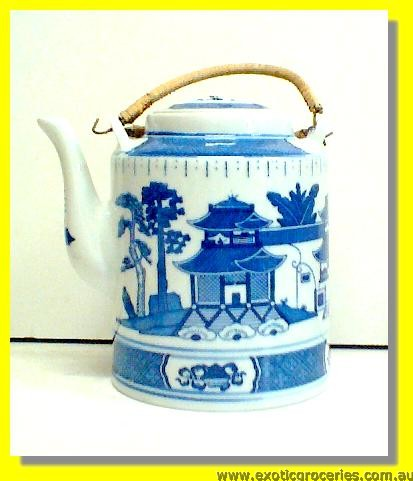 Blue Tall Teapot