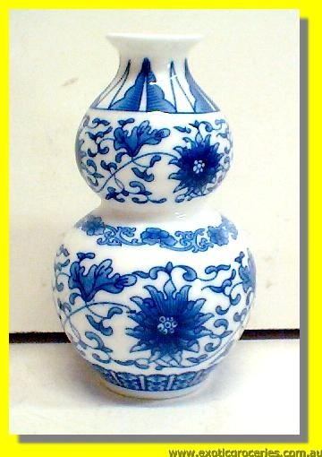 Blue Floral Vase Small