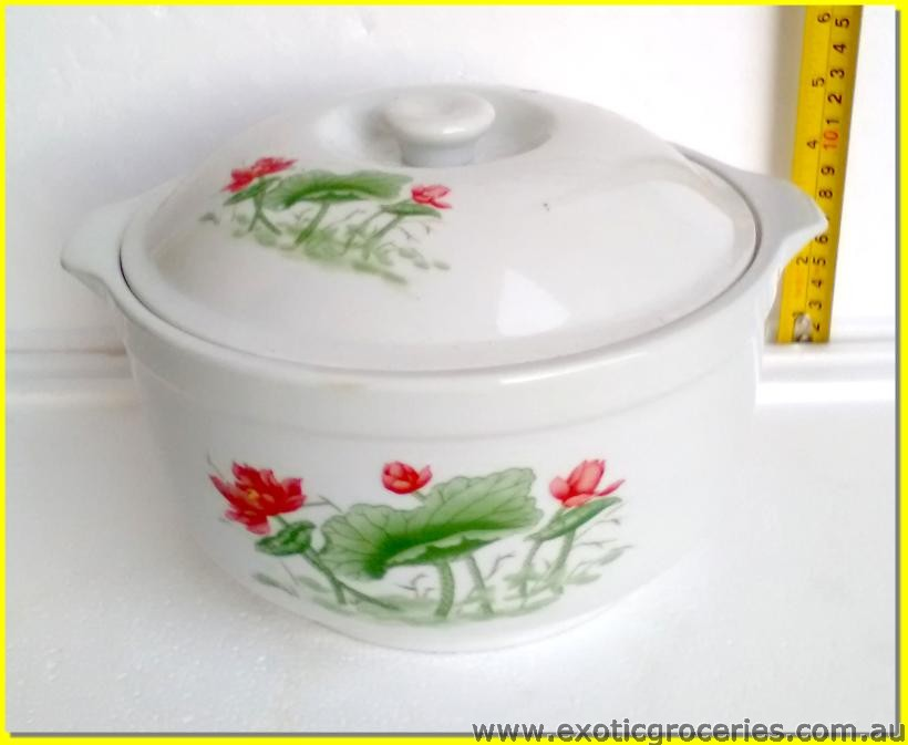 Floral Pot with Lid 20cm