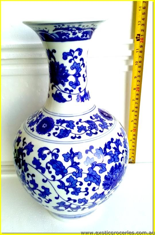 Chinese Blue Floral Vase