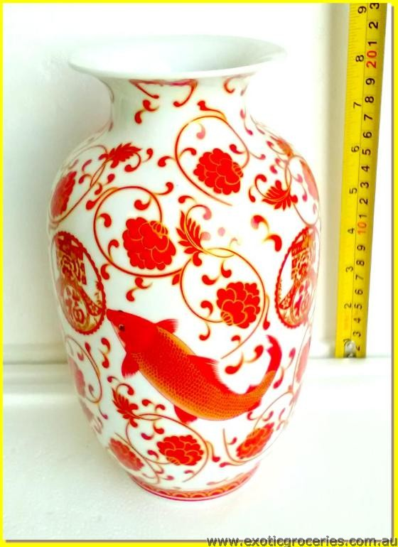 Chinese Vase Red Fish