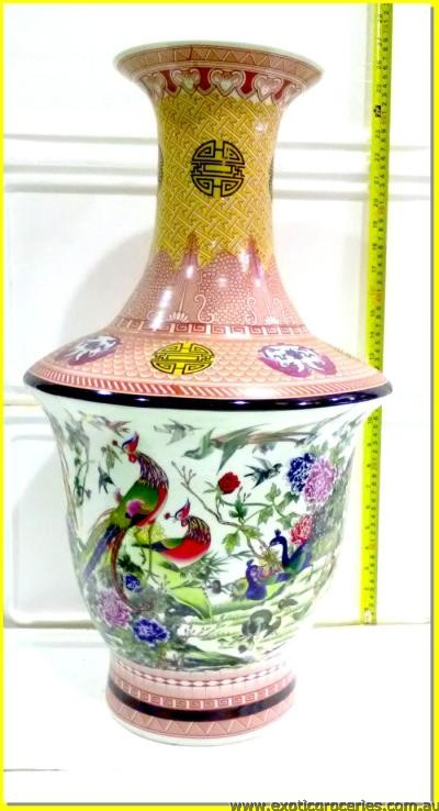 Chinese Vase Phoenix and Floral