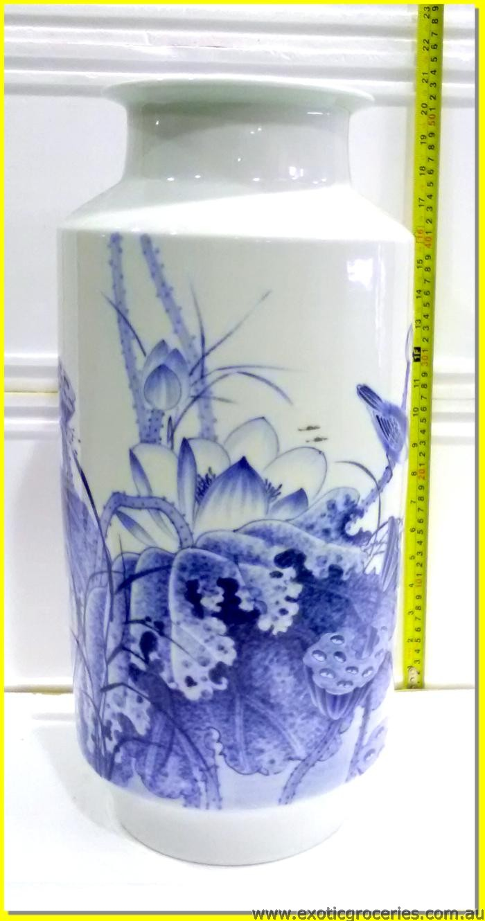 Chinese Vase Lotus Flowers