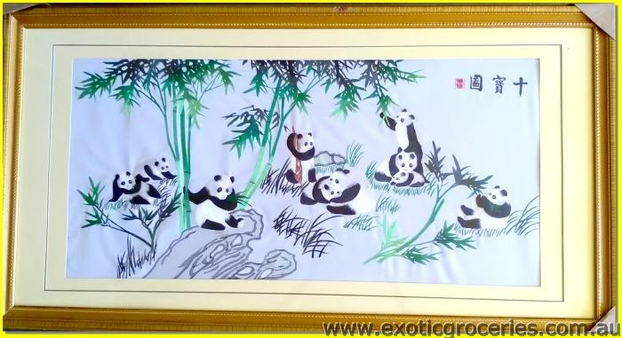Chinese Embroidery Artwork Panda