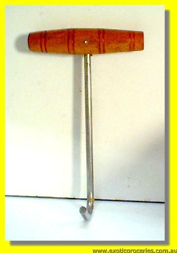 T Shape Hook with Wooden Handle (I-4)