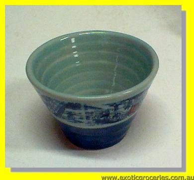 Blue Qing Ming Tea Cup 3.5""