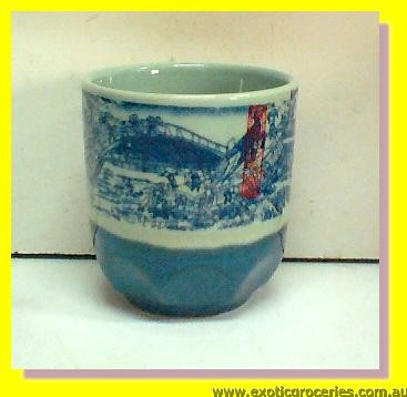 Blue Qing Ming Tea Cup 8cm Large
