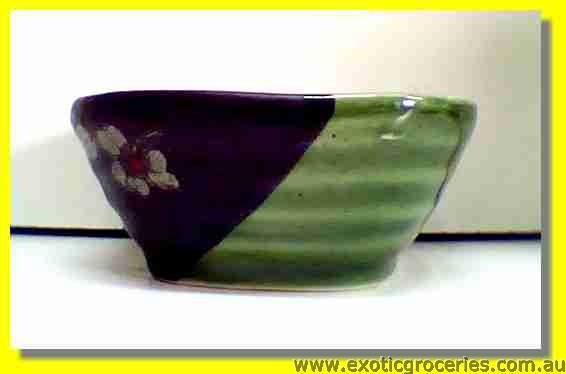 Japanese Style Square Green Bowl 3.75""