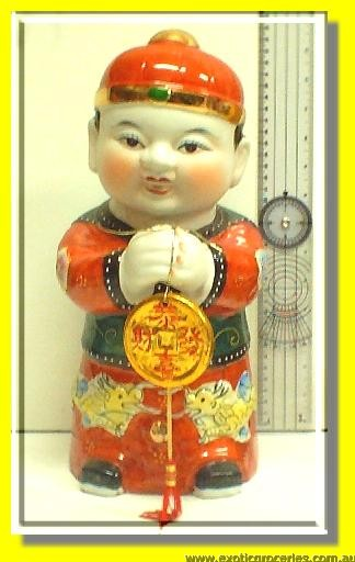 Lucky Chinese Kid Statue Male