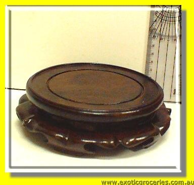 Carved Wood Vase Stand 5.5""