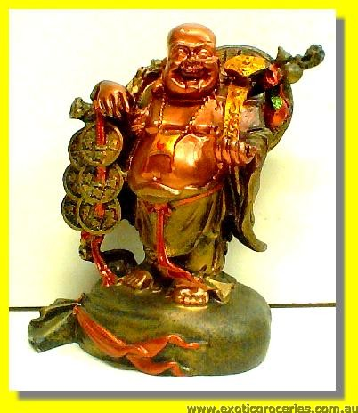 Lucky Fortune Smiling Buddha 6""