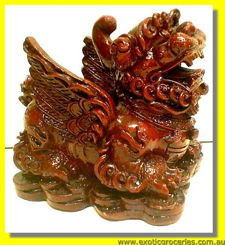 "Lucky Dragon Pen Holder 4.8""W"