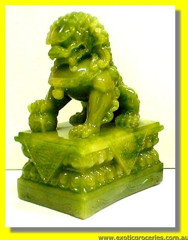 "Lucky Fortune Jade Lion 10"" H"