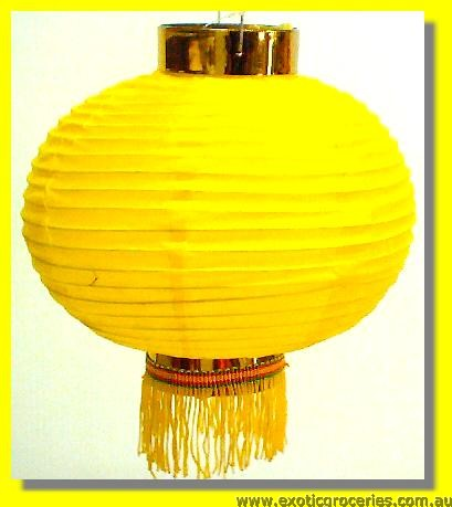 Lucky Yellow Plain Lantern 8""
