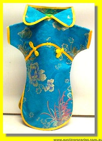 Chinese Embroidery Blue Bottle Clothes 30CM