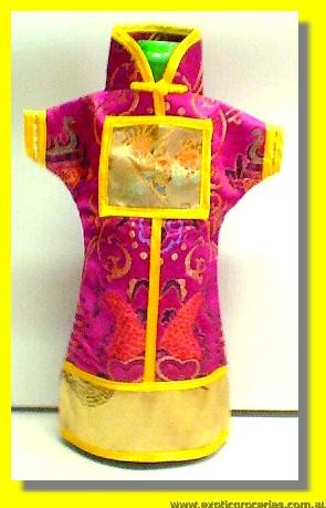 Chinese Embroidery Pink Bottle Clothes 30CM