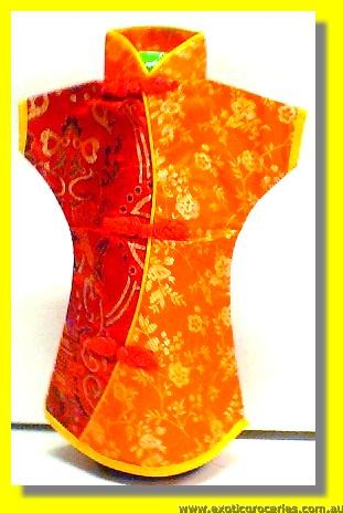 Chinese Embroidery Orange Bottle Clothes 30CM