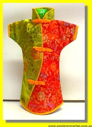 Chinese Embroidery Red Green Bottle Clothes 30CM