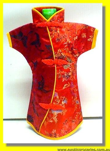 Chinese Embroidery Red Bottle Clothes 30 CM