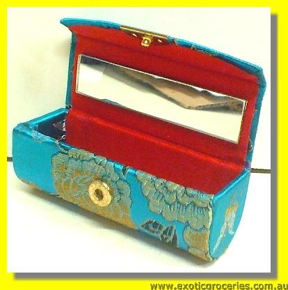 Chinese Traditional Embroidery Lipstick Case for 1 with mirror