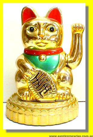 Electric Golden Lucky Money Cat with Stand