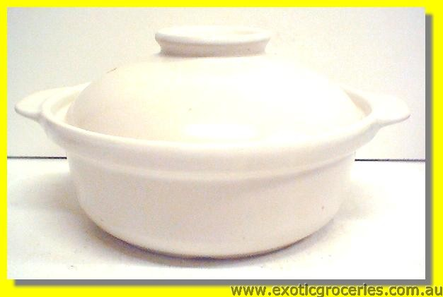 Clay Pot White 23CM