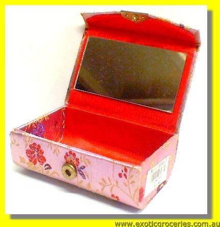 Chinese Traditional Embroidery Lipstick Case for 2 with Mirror