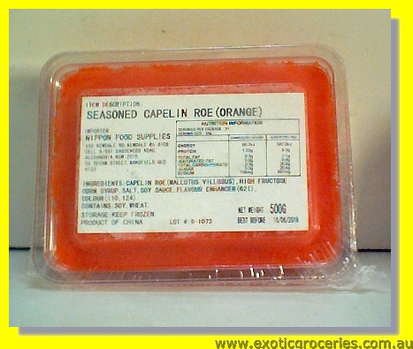 Seasoned Capelin Roe (Orange)
