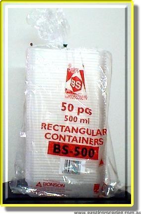 BS-500 500ml Rectangular Container