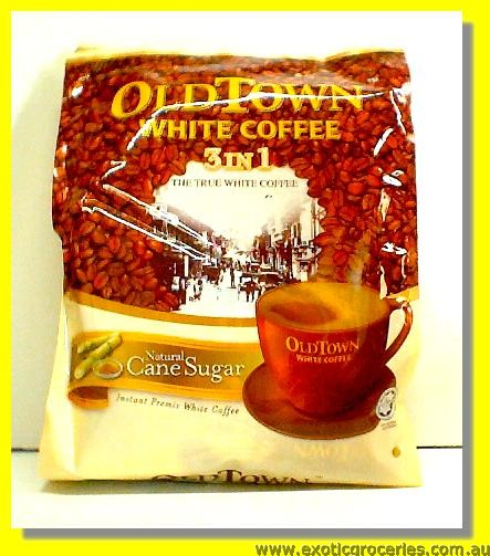 Instant White Coffee 3 in 1 Natural Cane Sugar 15sticks