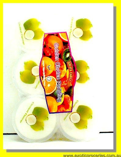 Coconut Flavour Pudding with Nata De Coco 6pcs