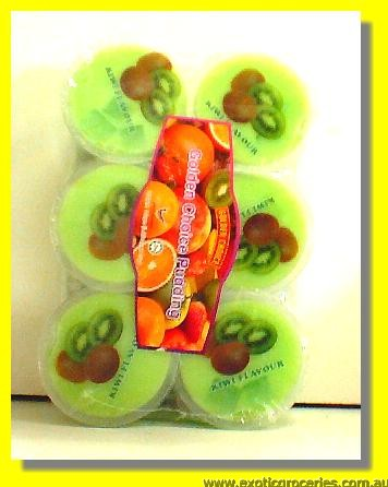 Kiwi Flavour Pudding with Nata De Coco 6cups