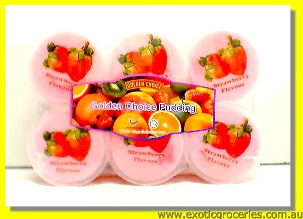 Strawberry Flavour Pudding with Nata De Coco 6pcs