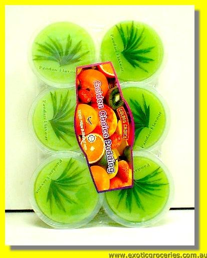 Pandan Flavour Pudding with Nata De Coco 6pcs