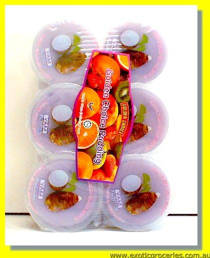 Yam Flavour Pudding with Nata De Coco 6pcs