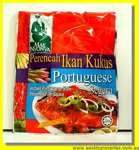 Instant Portuguese Style Steamed Fish Sauce Perencah Ikan Kukus